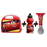 Vehicule Pour Enfant CARS Combo boîte a gouter + bidon + klaxon
