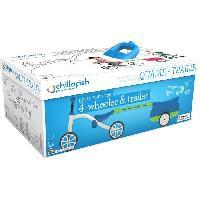 Vehicule Pour Enfant Draisienne Combo Quadie+Trailie - 4 Roues - Bleu - 1 a 3 Ans