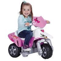 Vehicule Pour Enfant FEBER Moto Electrique Enfant La Trimoto Pink Tatoo 6 Volts