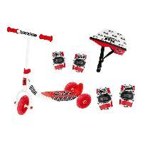 Vehicule Pour Enfant Patinette Garcon 3 roues + Coudieres. Genouilleres et Casque