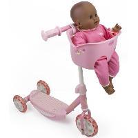 Vehicule Pour Enfant Trottinette 3 roues avec porte poupon plastic