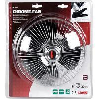 Ventilateur D'appoint Ventilateur chrome avec clip 24V - Camion