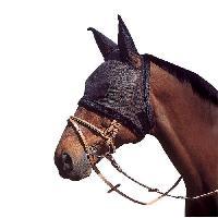 Vetement - Accessoire Bonnet en resille pour oreilles de cheval de trait - Noir