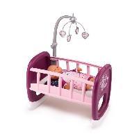 Vetement - Accessoire Poupon SMOBY Baby Nurse Berceau A Barreaux + 1 Mobile