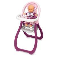 Vetement - Accessoire Poupon SMOBY Baby Nurse Chaise Haute Poupon + 2 Accessoires