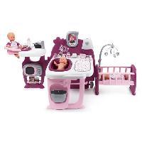 Vetement - Accessoire Poupon SMOBY Baby Nurse Grande Maison des Bébés - 3 Espaces de Jeux - 23 Accessoires
