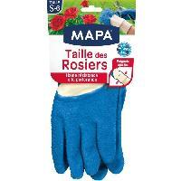 Vetement De Jardinage MAPA - Taille des Rosiers - Gants de Jardinage Textile 100% Coton - Anti-Perforation - Idéal taille des épineux - Bleus - Taille 6/S