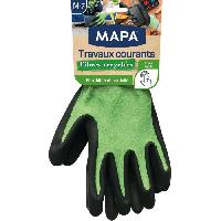 Vetement De Jardinage MAPA - Travaux Courants Fibres Recyclees - Gants de Jardinage Multi-Usages Fibres Recyclees - Flexibles et Resistants - Taille 7-M
