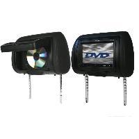 Video Embarquee MHM273T - Lot de 2 Appuie-Tetes Universels avec Ecran 7p - 2 lecteurs DVD Caliber