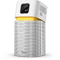 Videoprojection BENQ GV1  - Vidéoprojecteur DLP 480p (854x480) - 200 lumens ANSI - USB. Bluetooth - Haut-parleur 5W - Blanc