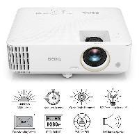 Videoprojection BENQ TH585 - Videoprojecteur DLP Full HD -1920x1080- - 3500 lumens ANSI - HDMI. USB - Haut-parleur 10W - Blanc