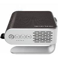 Videoprojection VIEWSONIC M1 Projecteur portable LED - Son Harman Kardon - Batterie integree - Gris