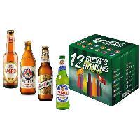 Vin - Alcool - Liquides 12 bieres 12 nations - Coffrets de 12 bieres