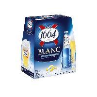 Vin - Alcool - Liquides 1664 - Biere blanche -  Pack de 6 x 25 cl