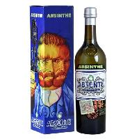 Vin - Alcool - Liquides Absente - Absinthe - 55.0% Vol. - 70 cl - Cuillere et étui Van Gogh