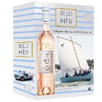 Vin BIB 3L Bernard Magrez Bleu de Mer IGP Pays d'Oc - Vin rosé du Languedoc-Roussillon