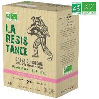 Vin BIB 3L La Résistance Vignerons de l'Enclave Côtes du Rhône - Vin rosé de la Vallée du Rhône - Bio