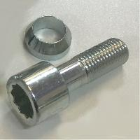 Vis de roues 1 Vis Etoile Changeable 12x125 L2 27mm - Acier Forge - conique ou plate - ADNAuto