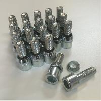 Vis de roues 20 Vis Etoiles Changeables 12x150 L2 25mm - Acier Forge - Coniques ou plates