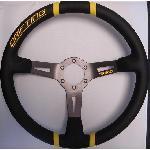 Volant -DRIFTING- Diametre 35cm - Noir et Jaune - 6 trous 35mm