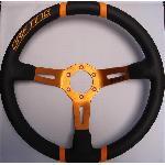 Volant -DRIFTING- Diametre 35cm - Noir et Orange - 6 trous 35mm