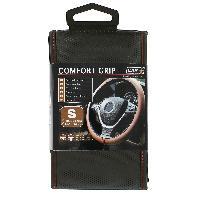 Volants & moyeux Couvre volant micro-perfore comfort grip S 35-36 cm - noir supiqures rouges Carplus