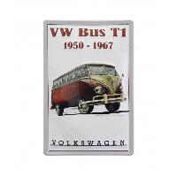 Volants & moyeux Enseigne plaque metal VW T1 BUS Combi 1950-1967 - 20x30cm