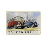 Volants & moyeux Enseigne plaque metal VW T1 BUS Combi et Beetle - Scene Industrielle - 20x30cm Brisa