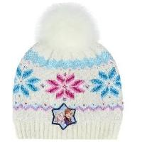 Volley-ball LA REINE DES NEIGES 2 Bonnet a Pompon Blanc Enfant Fille Disney Frozen