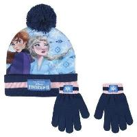 Volley-ball LA REINE DES NEIGES 2 Kit Gants Ethat Pompon Bleu Enfant Fille Disney Frozen