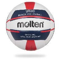 Volley-ball MOLTEN Ballon de Beach-Volley - Blanc. Bleu et Rouge Aucune