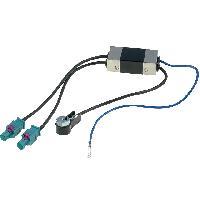 Vrac Antenne et adaptateurs Adaptateur Antenne 2xFakra M ISO M Amplifie compatible avec Audi Seat Skoda VW