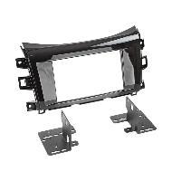 Vrac Facades et supports Autoradio Kit 2Din compatible avec Nissan Navara NP300 2015 noir metal laque
