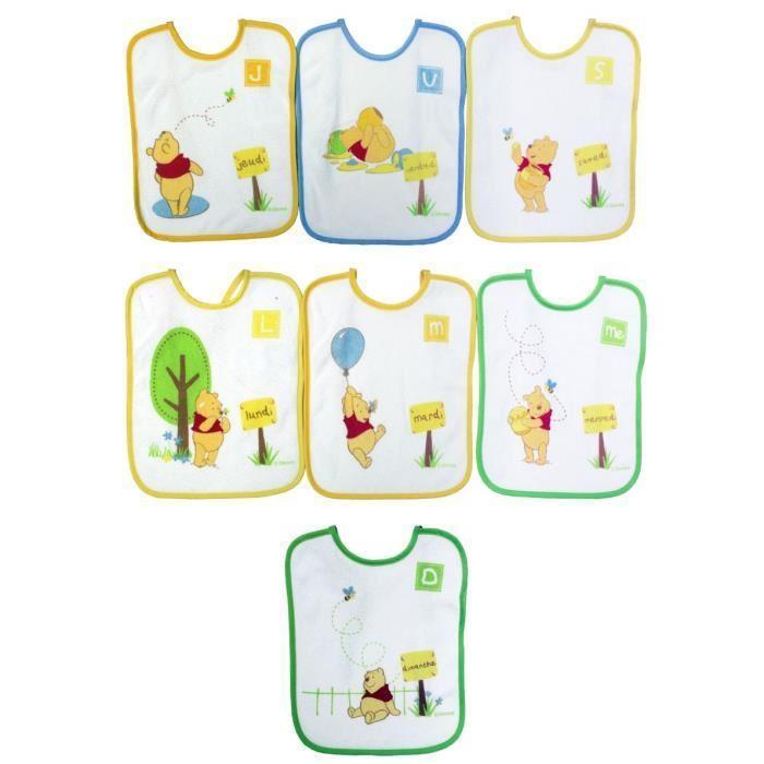 WINNIE-Lot-de-7-Bavoirs-Naissance-a-lacets-Babycalin miniature 2
