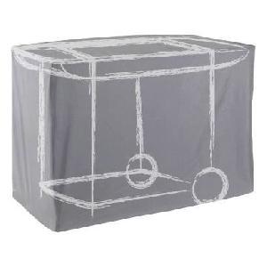 housse de protection pour barbecue et plancha 144x59x110 cm en toile oxford anthracite 360970. Black Bedroom Furniture Sets. Home Design Ideas