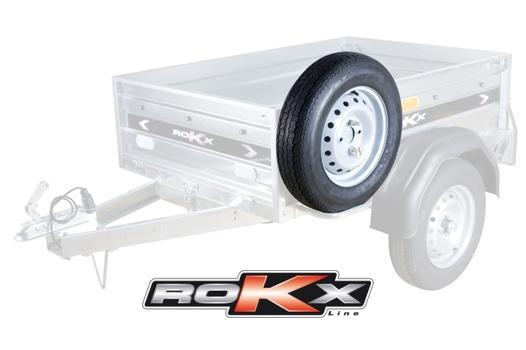 rokx roue de secours 145 r13 4x98 pour remorque rokx 150x100cm 111929. Black Bedroom Furniture Sets. Home Design Ideas