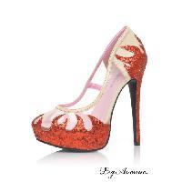 Accessoires Leg Avenue - Chaussures Talons Inferno - Chair/Rouge - Pointure 38