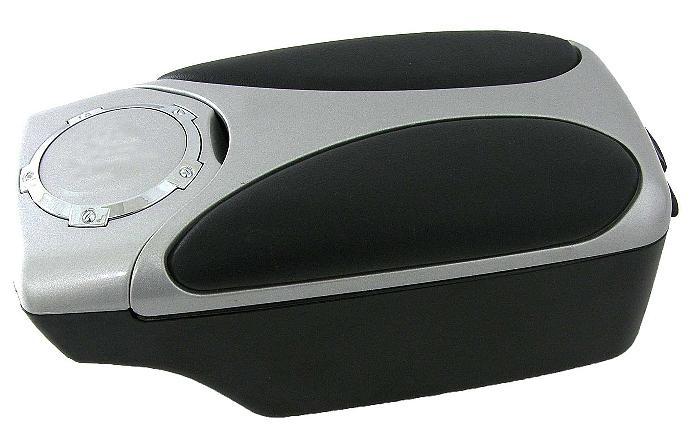 adnautomid accoudoir central universel ergonomique noir et argent 115690. Black Bedroom Furniture Sets. Home Design Ideas