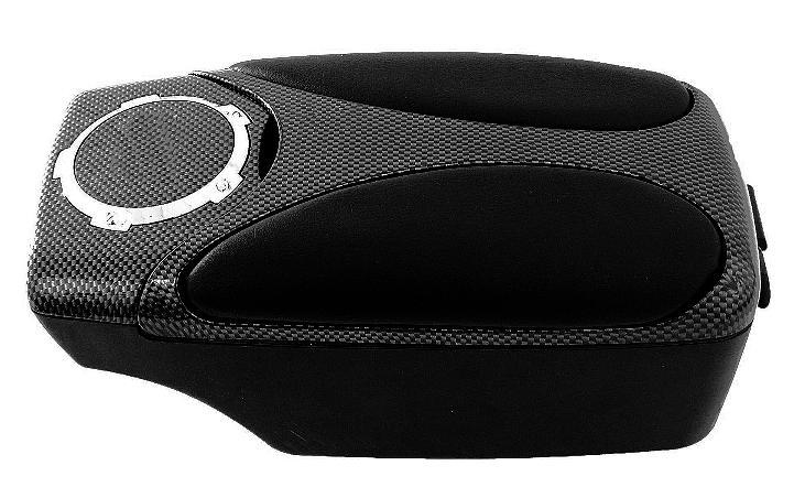 accoudoir central universel ergonomique noir et carbone 115692. Black Bedroom Furniture Sets. Home Design Ideas
