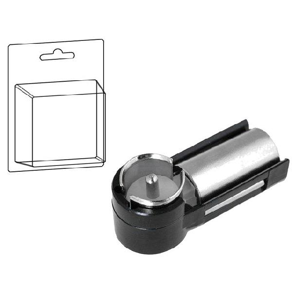 Adaptateur Antenne DIN F/ ISO M coude - sous blister - ADNAuto