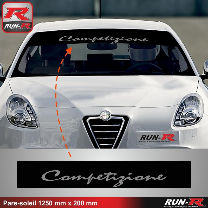 adhesifs alfa romeo run r stickers competizione noir ar. Black Bedroom Furniture Sets. Home Design Ideas