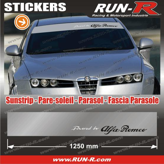 adhesifs alfa romeo run r stickers soleil powered argen 120314. Black Bedroom Furniture Sets. Home Design Ideas