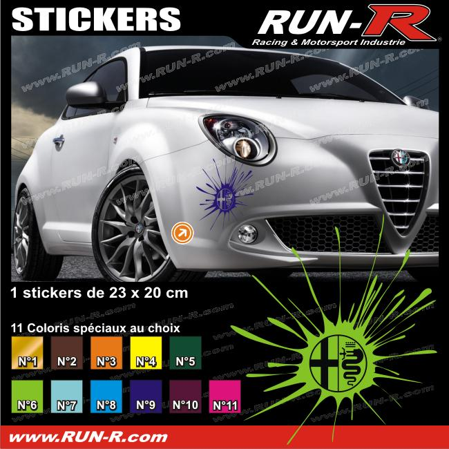1 Sticker SPLASH ALFA ROMEO 23 Cm