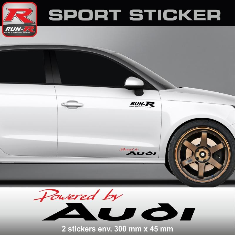 adhesifs audi run r stickers by powered pw05rn. Black Bedroom Furniture Sets. Home Design Ideas
