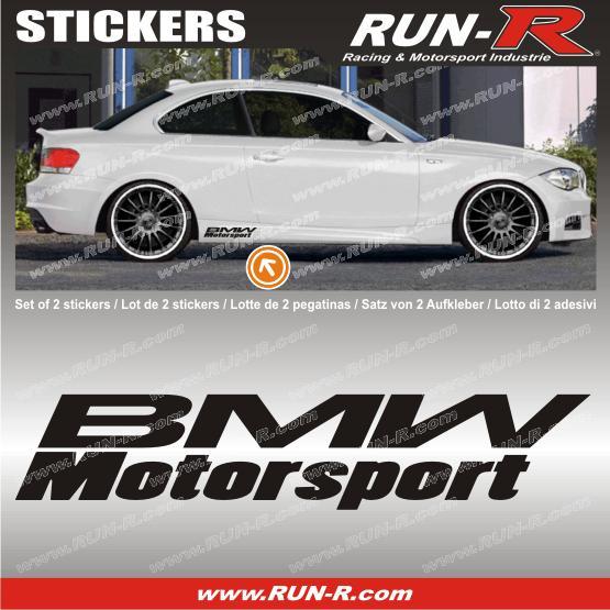 run r stickers 2 stickers bmw motorsport 30 cm noir adnauto 83579. Black Bedroom Furniture Sets. Home Design Ideas