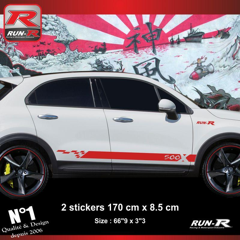 Adhesifs Fiat Run R Stickers Sticker 500x Rouge