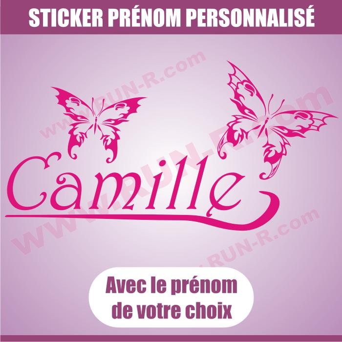 Adhesifs filles run r stickers papillon rose 110cm for Stickers exterieur personnalise