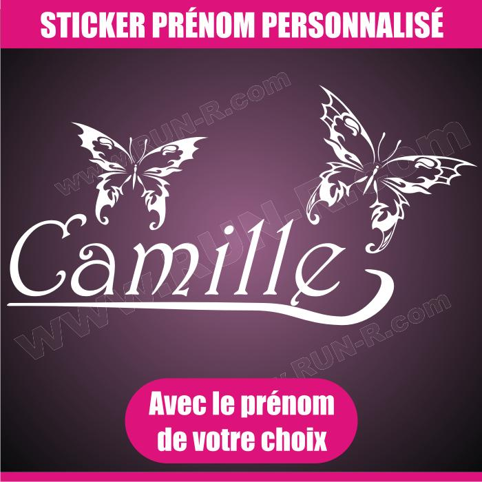Adhesifs filles run r stickers papillon blanc 55cm for Stickers exterieur personnalise