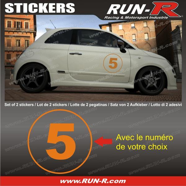 2 stickers numero de course 28 cm orange tout vehicule adnauto 127311. Black Bedroom Furniture Sets. Home Design Ideas