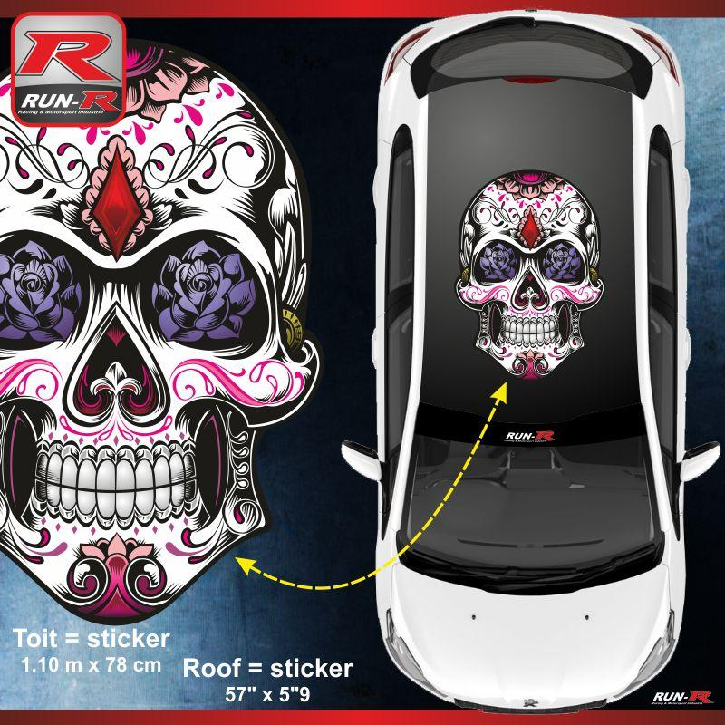 adhesifs peugeot run r stickers calavera 207 208. Black Bedroom Furniture Sets. Home Design Ideas